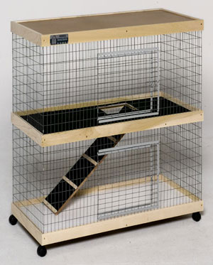 36 in. Double Level Bunny Abode Condo