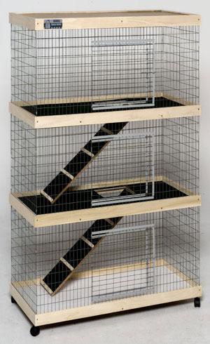 Petwerks 36 In Triple Level Bunny Abode Condo Ba600