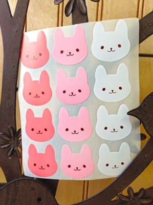 Cute Bunny Stickers