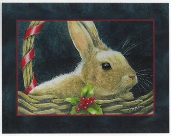 Bunny in a Basket Card- CLEARANCE