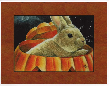 Bunny in a Pumpkin Card - CLEARANCE