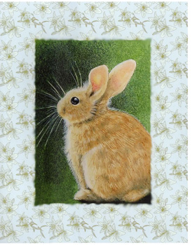 Bunny with big whiskers Sitting Card - CLEARANCE