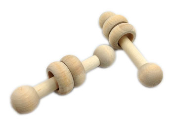Petwerks Naturals:   Small Dumbbell Mini-Rings